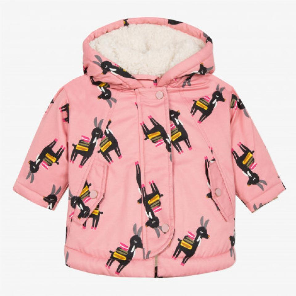 CATIMINI GIRLS CLOTHING  LAMA THEME CP42043   FUR LINED PARKA 18mths   only